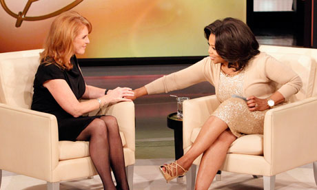 Oprah Winfrey talks to Sarah Ferguson