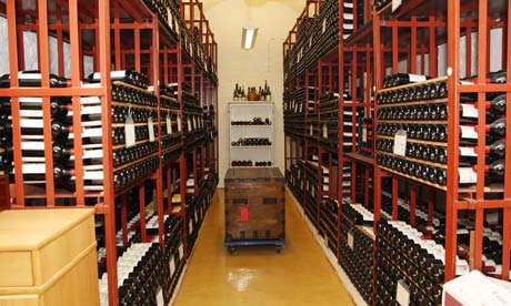 Wine stored in government cellars