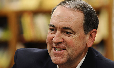 Mike Huckabee at a book signing in Wichita, Kansas, in March.
