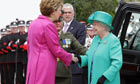 Queen Elizabeth II with Mary McAleese