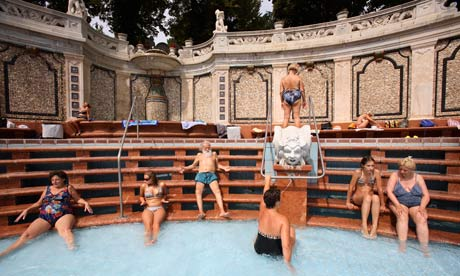 The Gellert Baths in Budapest, where the sex party took place Photograph: ...