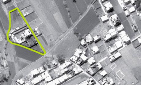 printable osama bin laden targets. Aerial view of in Laden#39;s