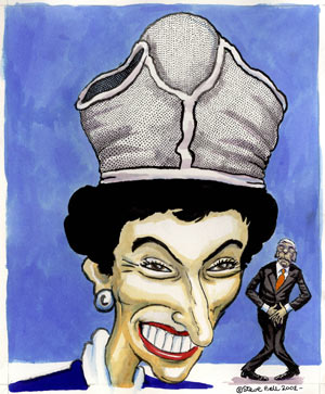 Steve Bell: Edwina Currie, 2002