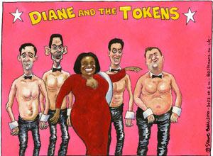 Steve Bell: Diane Abbott, 2010