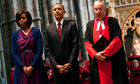Barack and Michelle Obama at Westminster Abbey