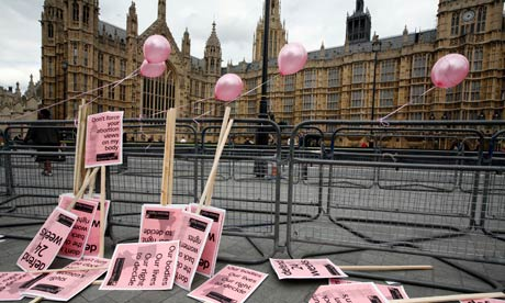 abortions in uk. Abortion rally