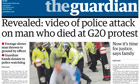 Guardian front page exclusive about Ian Tomlinson