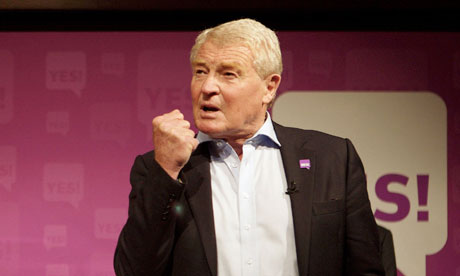 Paddy Ashdown at an yes-to-AV refeeendum rally