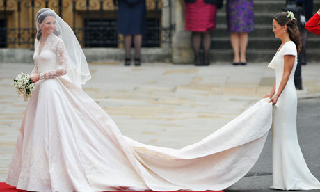 the royal wedding kate dress. Royal Wedding - Kate and Pippa
