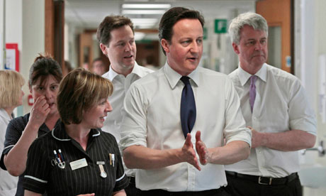 David Cameron, Nick Clegg and Andrew Lansley