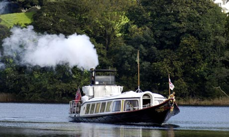 A steamboat in the Lake District
