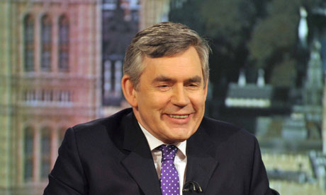 Prime Minister Gordon Brown Is Interviewed On The Andrew Marr Show