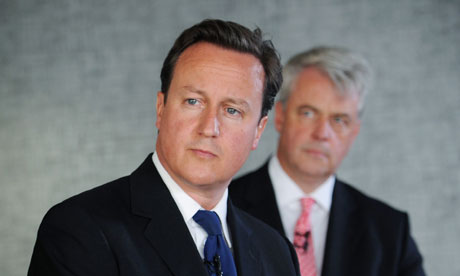 David Cameron and health secretary Andrew Lansley