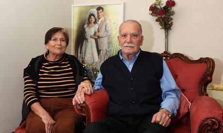 Emine Osman, 70, with her husband Djevdet, 78