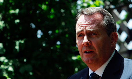 Britain's Defence Secretary Liam Fox