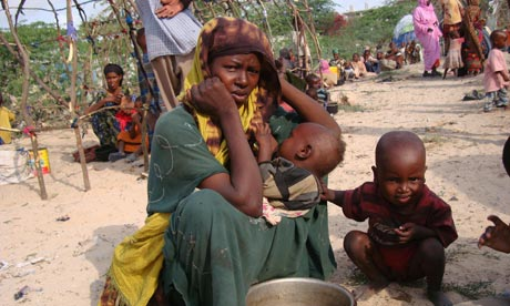 A displaced Somali woman