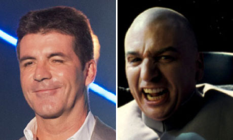 Simon Cowell and Dr Evil