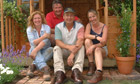 The BBC's Ground Force team – Charlie Dimmock,Tommy Walsh, Will Shanahan and Kirsty King
