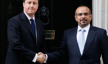 David Cameron bahrain