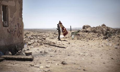Libyan rebel in Nafusa mountains
