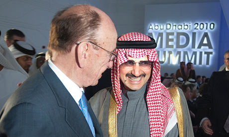 Rupert Murdoch with Prince Alwaleed bin Talal