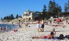 Sunbathing on Cottesloe
