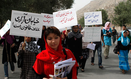Afghan women protest kabul