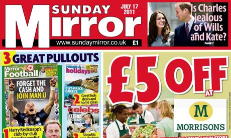 Sunday Miror July 17 edition