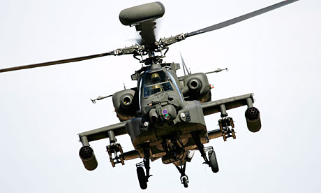 Apache helicopter hits Afghan children