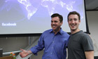 Mark Zuckerberg and Tony Bates