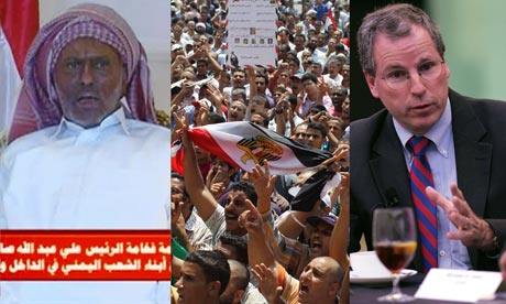 Ali Abdullah Saleh, Egyptian pro-democracy activists and Robert Ford, US Ambassador to Syria