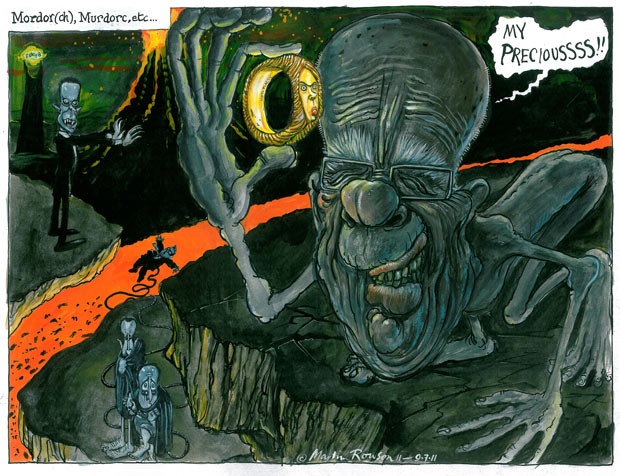 Martin Rowson cartoon on the Murdoch scandals