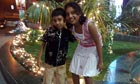 Yash Lakhotia, seven, and his sister Neha, now 12, two days before he was kidnapped and murdered.