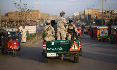 Members of the Afghan special police forces in Herat