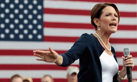 Republican presidential candidate Michele Bachmann speaks in Iowa