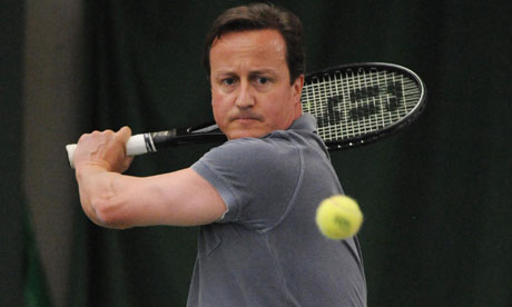 Cameron playing tennis