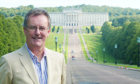 Ulster Unionist MLA Mike Nesbitt pictured outside the Stormont assembly