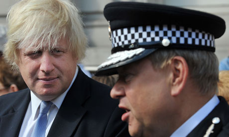 Metropolitan police chief Tim Godwin Boris Johnson