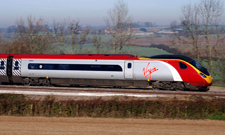 Virgin Pendolino train between Coventry and Rugby, England, UK. Image shot 2007. Exact date unknown.