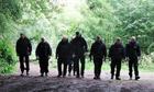 Police in Brynglas woods, Newport