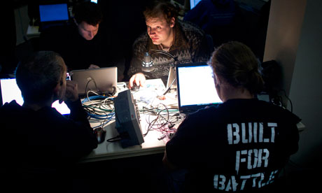 The Chaos Computer Club's annual conference attracts an international audience of hackers, scientists, artists and utopians. Photograph: Thomas Peter/Reuters