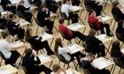 Pupils sitting their GCSE examinations