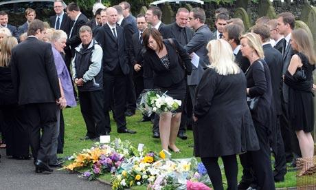 Shark attack victim Ian Redmond funeral