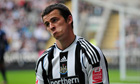 Joey Barton looking philosophical on the pitch, 2011