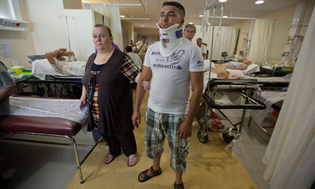 accident and emergency ward at a hospital in Athens