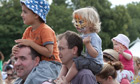 Lollibop festivalgoers watch Rastamouse live on stage