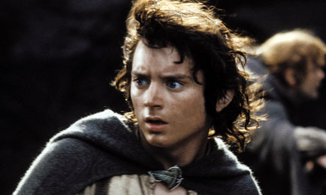 Elijah Wood as hobbit Frodo