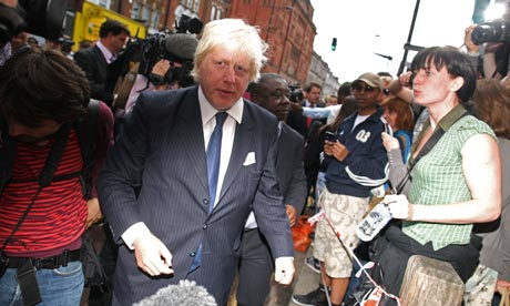 boris johnson in clapham junction