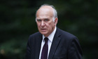 Vince Cable arrives at 10 Downing Street