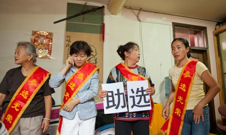 Chinese authorities have been harassing and detaining independent candidates attempting to run for the Peoples Congress (Photo Courtesy of The Guardian).